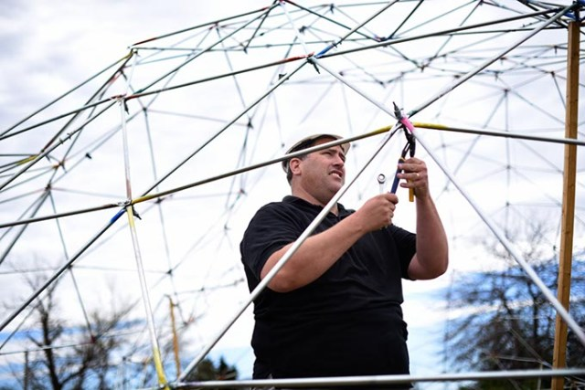 Daniel Wade quit his job to focus on creating his downdraft dome in Edmond and contribute to science. (Garett Fisbeck)