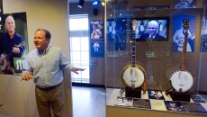 Steve Martin exhibit at the American Banjo Museum in Oklahoma City, Tuesday, Feb. 16, 2016.  (Garett Fisbeck)