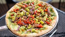 The Brandon vegan pizza at The Wedge, Friday, March 18, 2016.  (Garett Fisbeck)