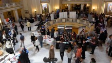 Organizations gather at Oklahoma Arts Day 2016 at the Oklahoma State Capitol, Wednesday, May 4, 2016.  (Garett Fisbeck)