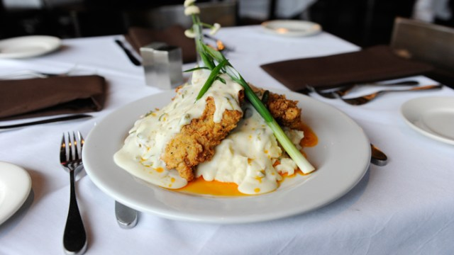 Chicken fried steak with jalapeno gravy at Cheevers in Oklahoma City, Tuesday, Dec. 22, 2015.  (Garett Fisbeck)