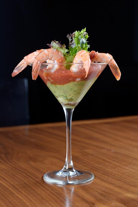 Chili-poached shrimp cocktail (Garett Fisbeck)