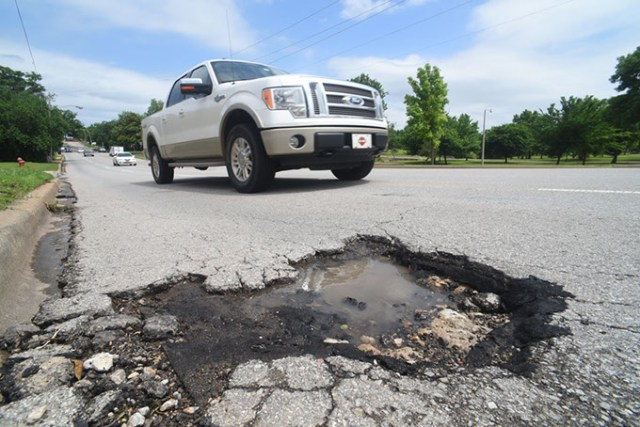 OKC residents rated street conditions as their top concern in a recently released citizen survey. (Gazette / file)