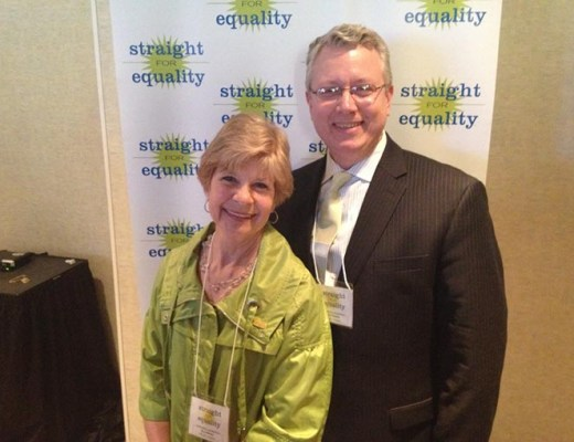Kay Holladay and son, David, at PFLAG National's Straight for Equality Gala.  (Provided)
