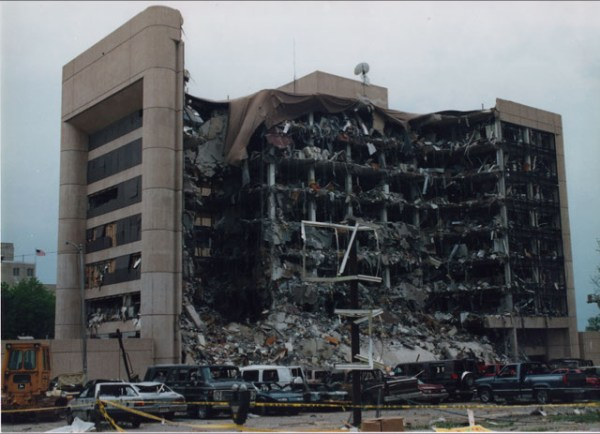 The Alfred P. Murrah building after the 1995 bombing (Jon Hersley / Public Broadcasting Service / provided)