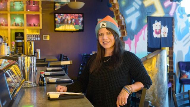 Anna Mains poses for a photo at Dekora Sushi in Oklahoma City, Wednesday, Jan. 4, 2017.  (Garett Fisbeck)