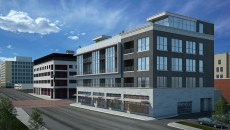 An artist's rendering shows The Broadway Condominiums at its future location at 700 N. Hudson Ave. in Automobile Alley. | Image Skyline Ink / provided