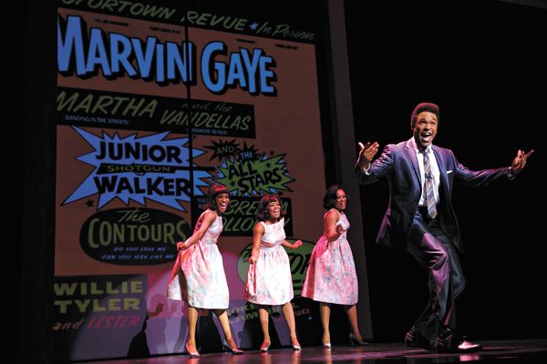 Jarran Muse plays Marvin Gaye in <em>Motown the Musical</em>. (Joan Marcus / OKC Broadway / provided)