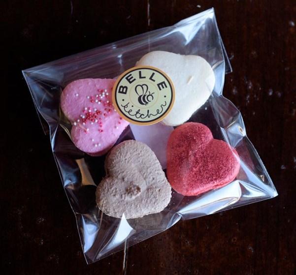Belle Kitchen's Valentine's <em>macaron</em> hearts sampler (Garett Fisbeck)