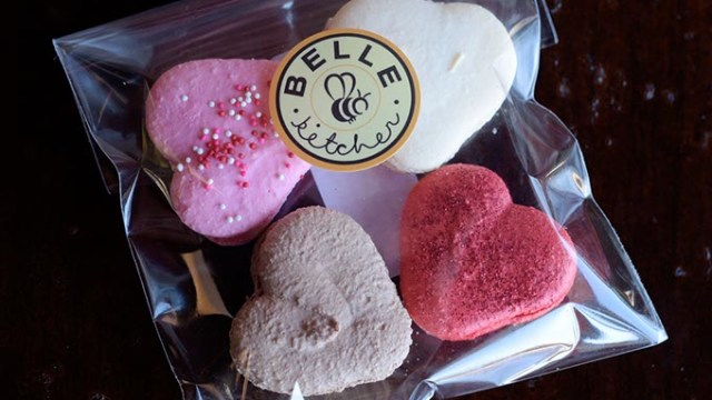 Valentines Day macaroons at Belle Kitchen, Friday, Jan. 27, 2017.  (Garett Fisbeck)