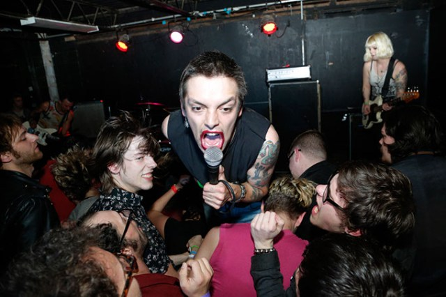 Shows at annual Everything Is Not OK punk fest can get rowdy, as seen with Olympia, Washington band Lysol at last year's event. (Garett Fisbeck)
