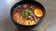 Spicy miso ramen at Gorō Ramen + Izakaya Thursday, Feb. 16, 2017.  (Garett Fisbeck)