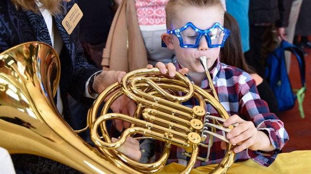 Discovery Family Series pre=performance activities include an instrument playground where children can learn about and play them. | Photo Wendy Mutz / Oklahoma City Philharmonic / provided