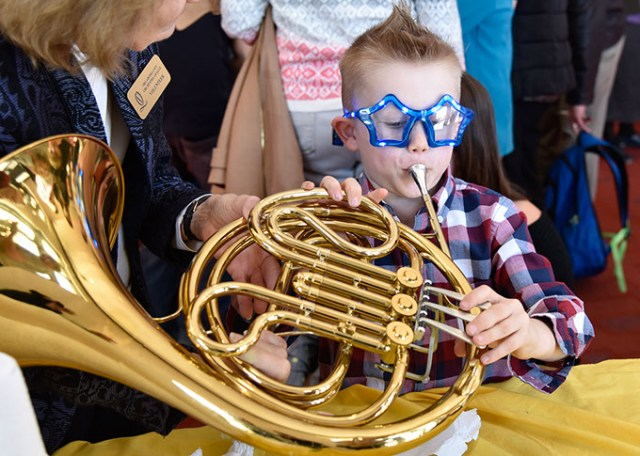 Discovery Family Series pre-performance activities include an instrument playground where children can learn about and play them. (Wendy Mutz / Oklahoma City Philharmonic / provided)