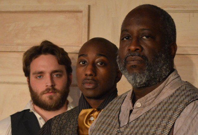 <em>from left</em> Actors Justice Wickstrom, Thonie Lee and Michael Page star in Carpenter Square Theatre's <em>The Whipping Man</em>. (Carpenter Square Theatre / provided)