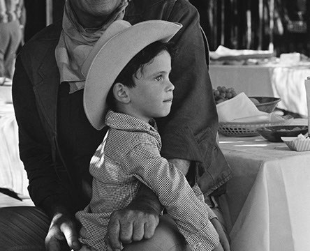 John Wayne and son Ethan on the set of El Dorado 1966 John R Hamilton - John Wayne Enterprises