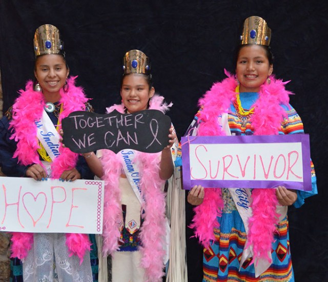 One of Oklahoma City Indian Clinic's breast health programs is a mother/daughter banquet where daughters took photos with their mothers and loved ones to help spread Breast Cancer Awareness. (Oklahoma City Indian Clinic / provided)