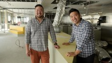 Kevin Lee and John Lee in the space that will become Korean fast-casual restaurant Gogi-Go in Midtown, Tuesday, June 13, 2017.  (Garett Fisbeck)