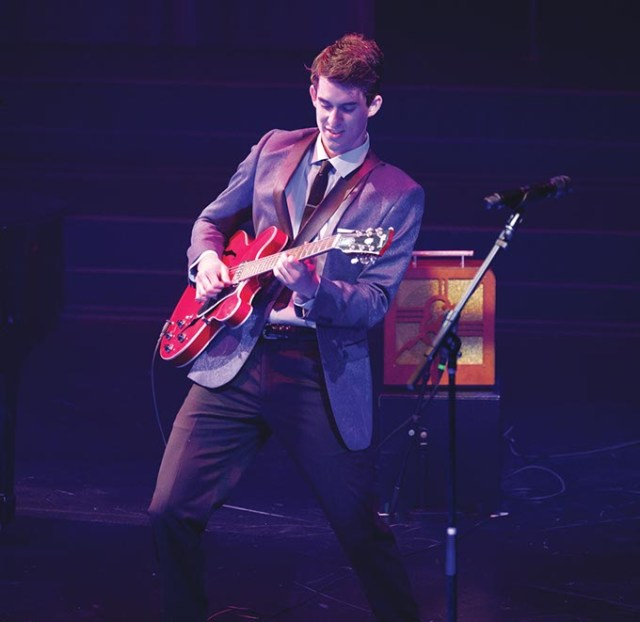 <em>Million Dollar Quartet</em> features Billy Cohen as Carl Perkins. (Charles Quinn / provided)