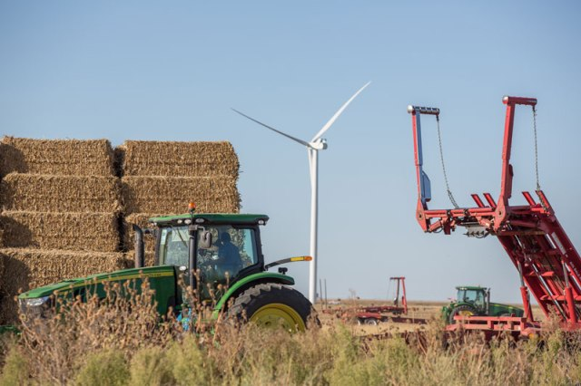 Enel Green Power North America erected the Goodwell Wind Project in Oklahoma's Panhandle in 2015. The company is constructing its ninth wind farm — Red Dirt — in Kingfisher and Logan counties. (Provided)