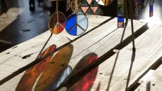 Works by stained glass artist James Rogers at his studio, Wednesday, March 1, 2017.  (Garett Fisbeck)