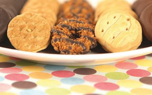 Girl Scout cookies like Do-si-dos, Samoas and Trefoils are used in food and drink recipes at Cookies & Cocktails.