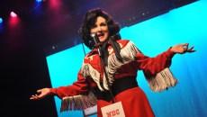 Julie Johnson portrays crossover singer Patsy Cline in CityRep's latest production. (Photo Oklahoma City Repertory Theatre / provided)