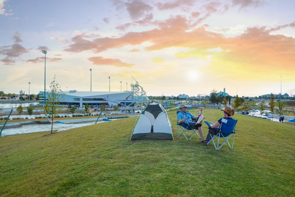 Visitors can pitch a tent and enjoy the fun at Urban Camping. (provided)
