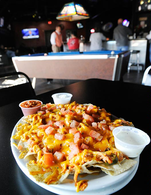 Buffalo chicken nachos at Lumpy's Sports Grill (Garett Fisbeck / file)