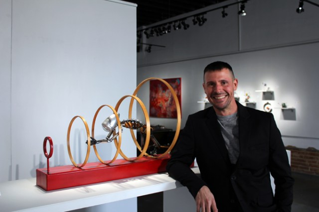 Tony Morton founded Kasum Contemporary Fine Art gallery with his wife Stacey Miller in 2013. (Jacob Threadgill)