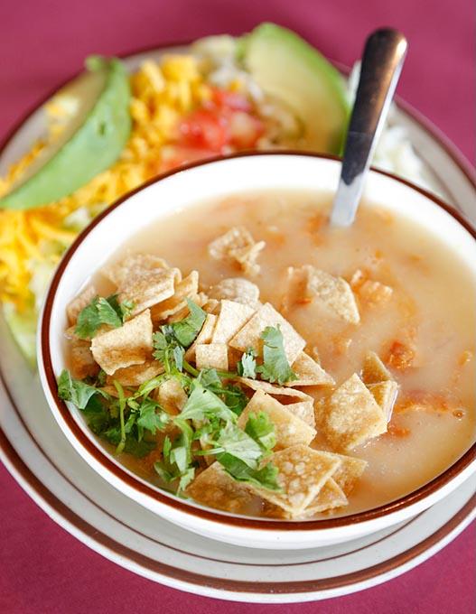 Tortilla soup at Alvarado's Mexican Restaurant in Edmond. (Garett Fisbeck / file)