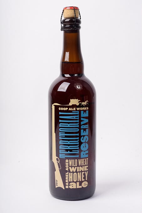 COOP Ale Works Territorial Reserve Barrel Aged Wild Wheat Wine Honey Ale (Garett Fisbeck)