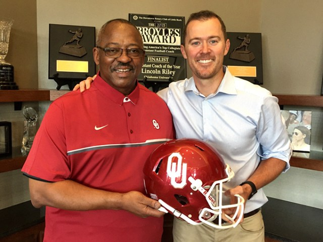 Lincoln Riley hired his former head coach Ruffin McNeil after taking over for Bob Stoops this summer. (provided)