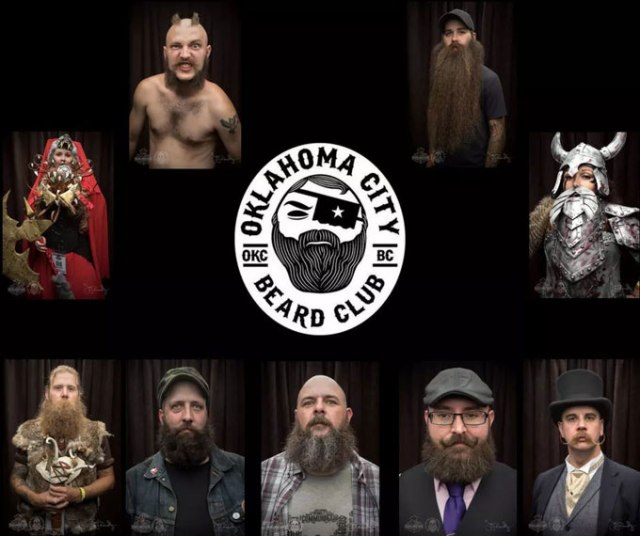 Members of the OKC Beard Club | Photo provided