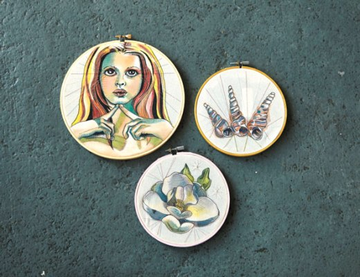 The Art Market features embroidery produced by Cecilia Otero. | Photo DNA Galleries / provided