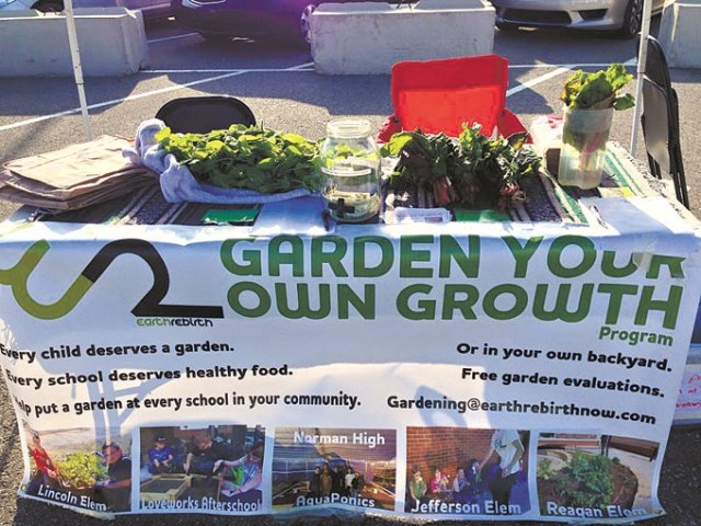 Earth Rebirth has established gardens at 15 schools in Norman. (Provided)