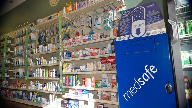 Locals can bring their unwanted prescriptions to seven pharmacies, including Edmond's Creative Care Pharmacy, for safe disposal. (Photo Laura Eastes)