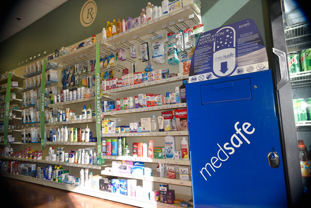Locals can bring their unwanted prescriptions to seven pharmacies, including Edmond's Creative Care Pharmacy, for safe disposal. (Laura Eastes)