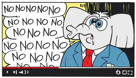 no-no-elephant-editorial-cartoon-preview-image