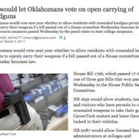 NewsOK: Open Carry Bill Moves out of Committee