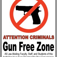 Gun Free Zone Signs for Un-Armed Homes and Businesses to Post