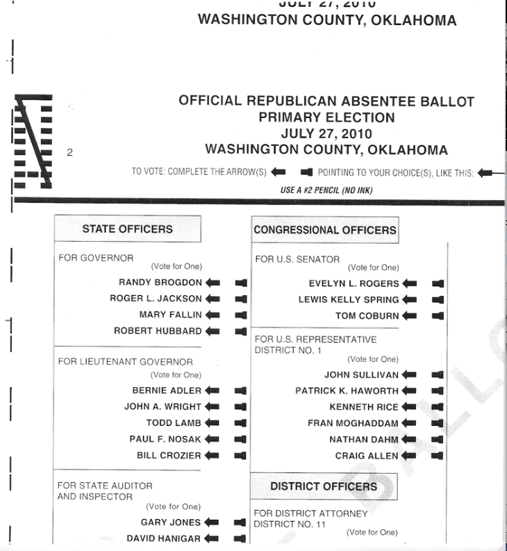 Washington County Sample Ballot for Special Election June 26 – Did you Know there were Bonds on the Ballot?