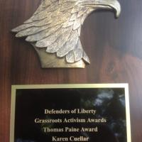 Defenders of Liberty – Thomas Paine Award to Karen Cuellar