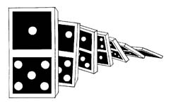 Dominoes falling clip art