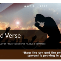 National Day of Prayer - Events All over the State - Find one near You!  May 7th