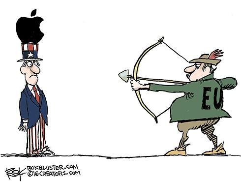 EU US Ireland Unhappy Bite Of Apple