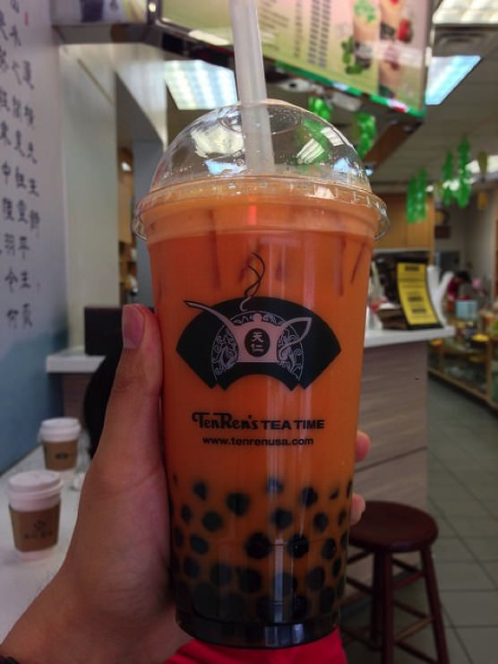 ニューヨーク Ten Ren's Tea (テン・レン・ティー) タピオカミルクティー