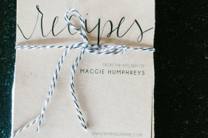 Recipe cards by Molly Perkins