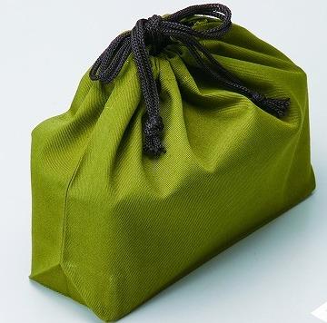 弁当巾着袋グリーン