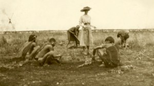 blog nicholls miss donkin supervising planting of garden for sanatorium